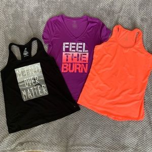 3 Danskin Now Dri-more shirts